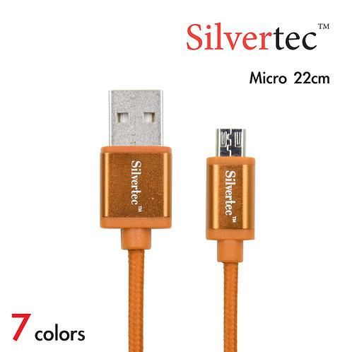 Double Micro Cable 22cm Orange