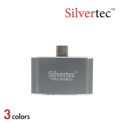 Type-C to USB 2.0 2 Ports Reversible Plug Grey