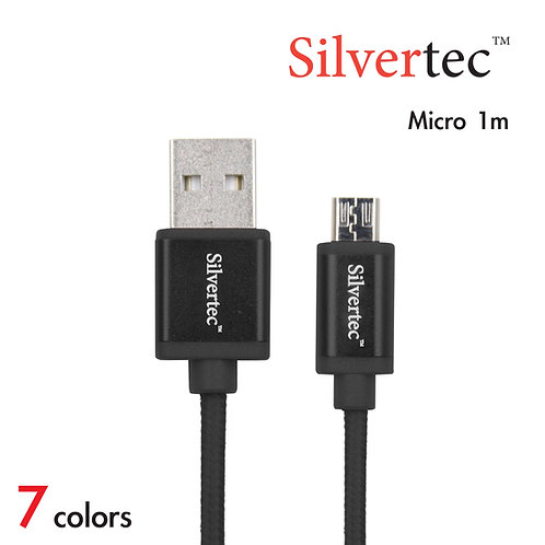 Double Micro Cable 1m Black