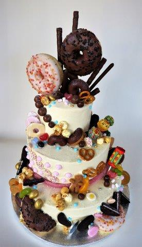 Sweetshop Doughnut Tiered Cake