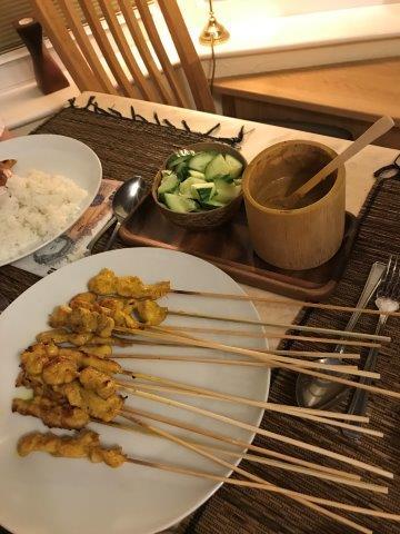 Singapore Styled Chicken Satay