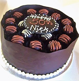 Handmade Truffle Chocolate Box Cake