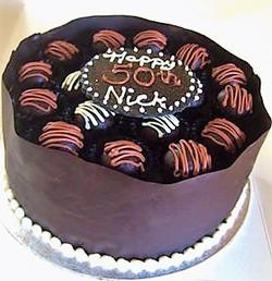 Handmade Truffle Chocolate Box Cake