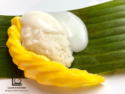 Dessert - mango with sticky rice _ salte