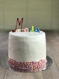 Rainbow Sprinkles White Cake