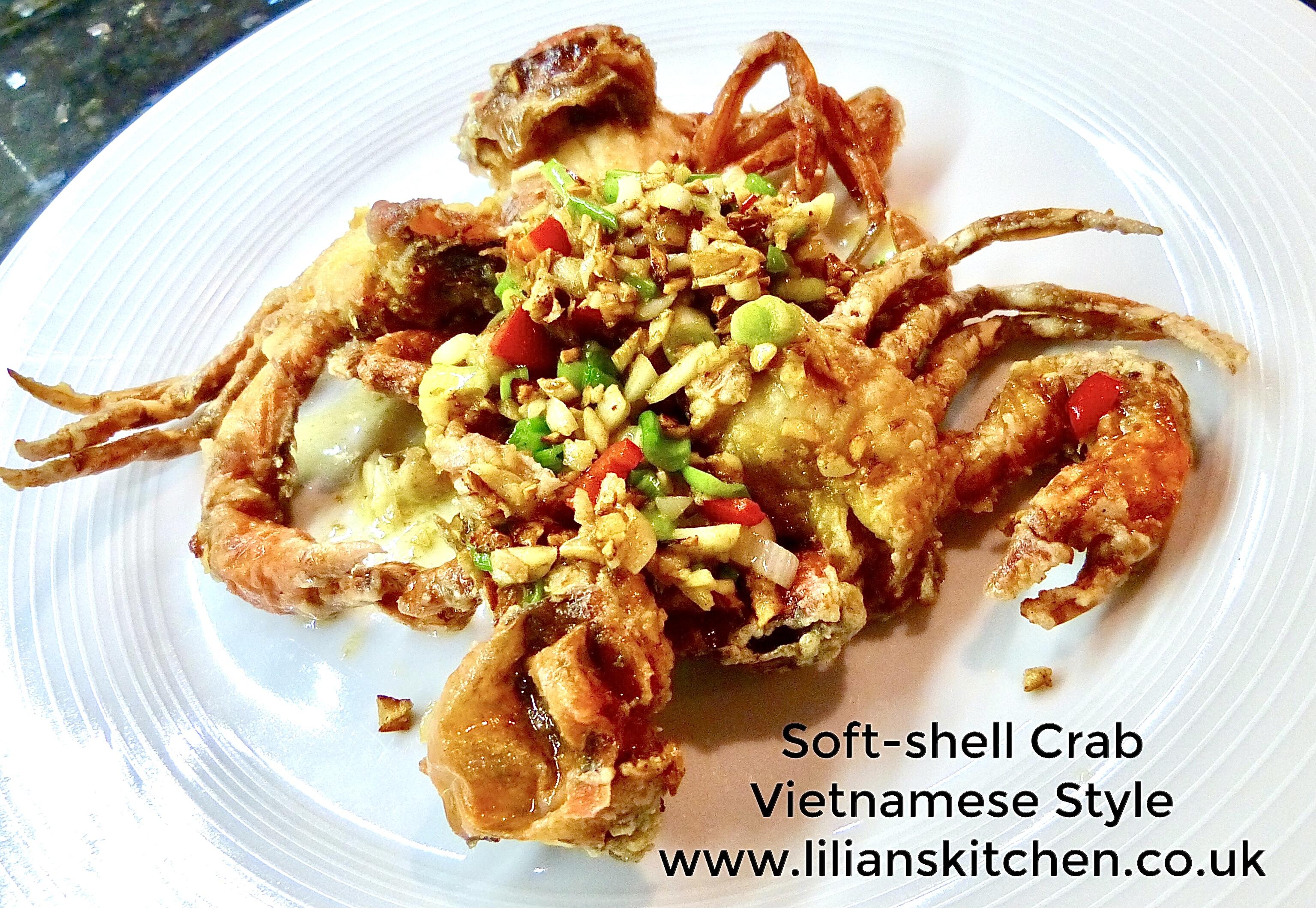 Soft shell crab garlic fish sauce