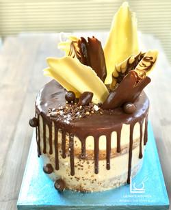 Malteasers Semi Naked Chocolate Drip Cake