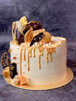 Golden Wedding Anniversary. Mum loves lemon Dad loves chocolate, loving layers of alternating lemon