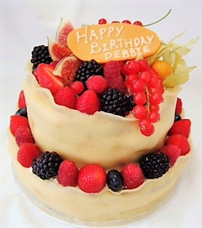 Marzipan Fresh Berries Cake