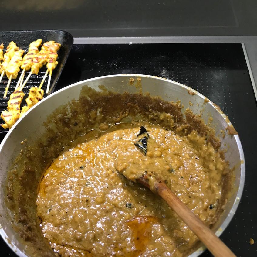Peanut Sauce for the Satay