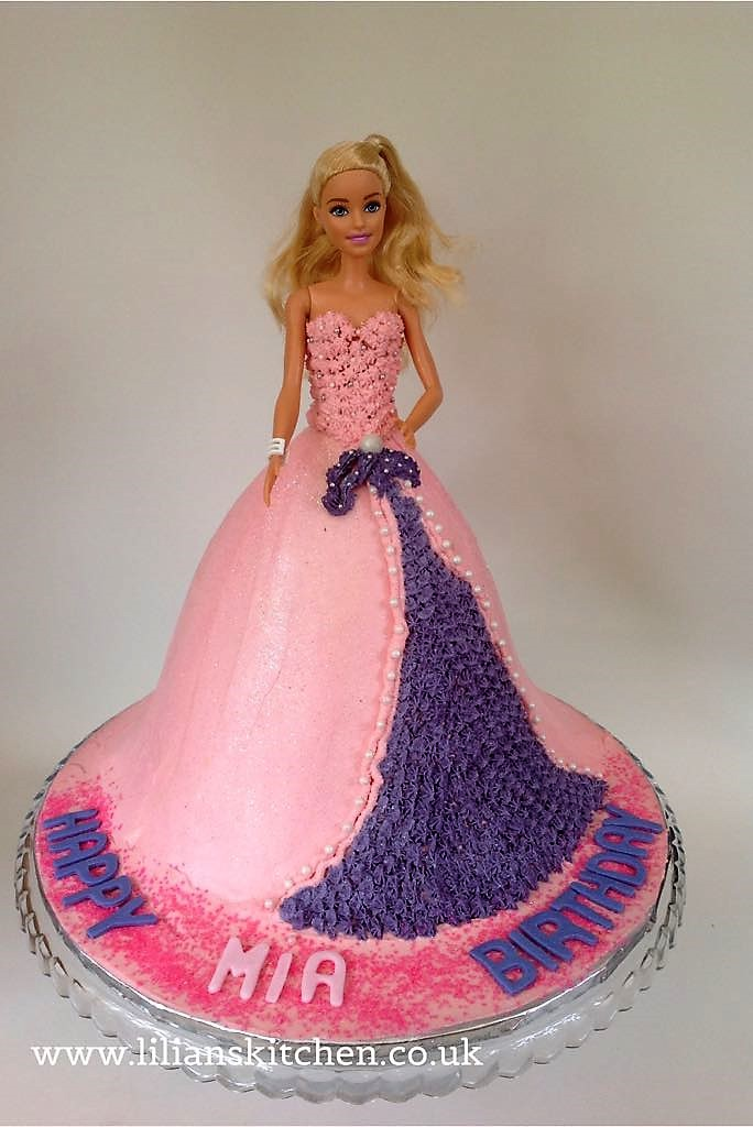Pearl & Diamante Barbie Doll Cake