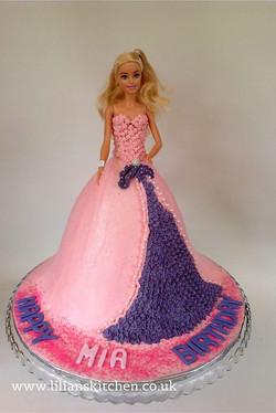 Pearl & Diamante Barbie Doll Cake