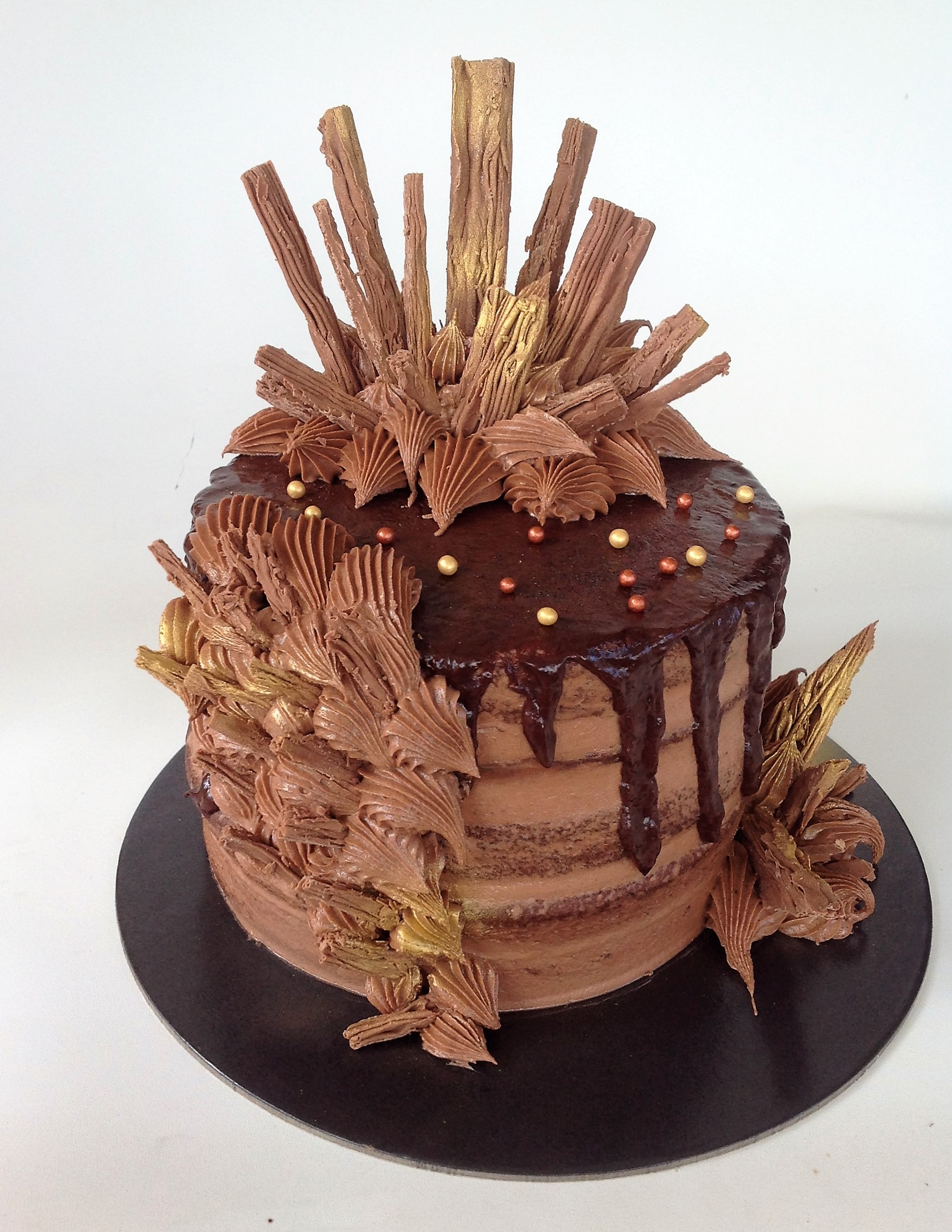 Cadbury Flakes Chocolate Ganache Cake