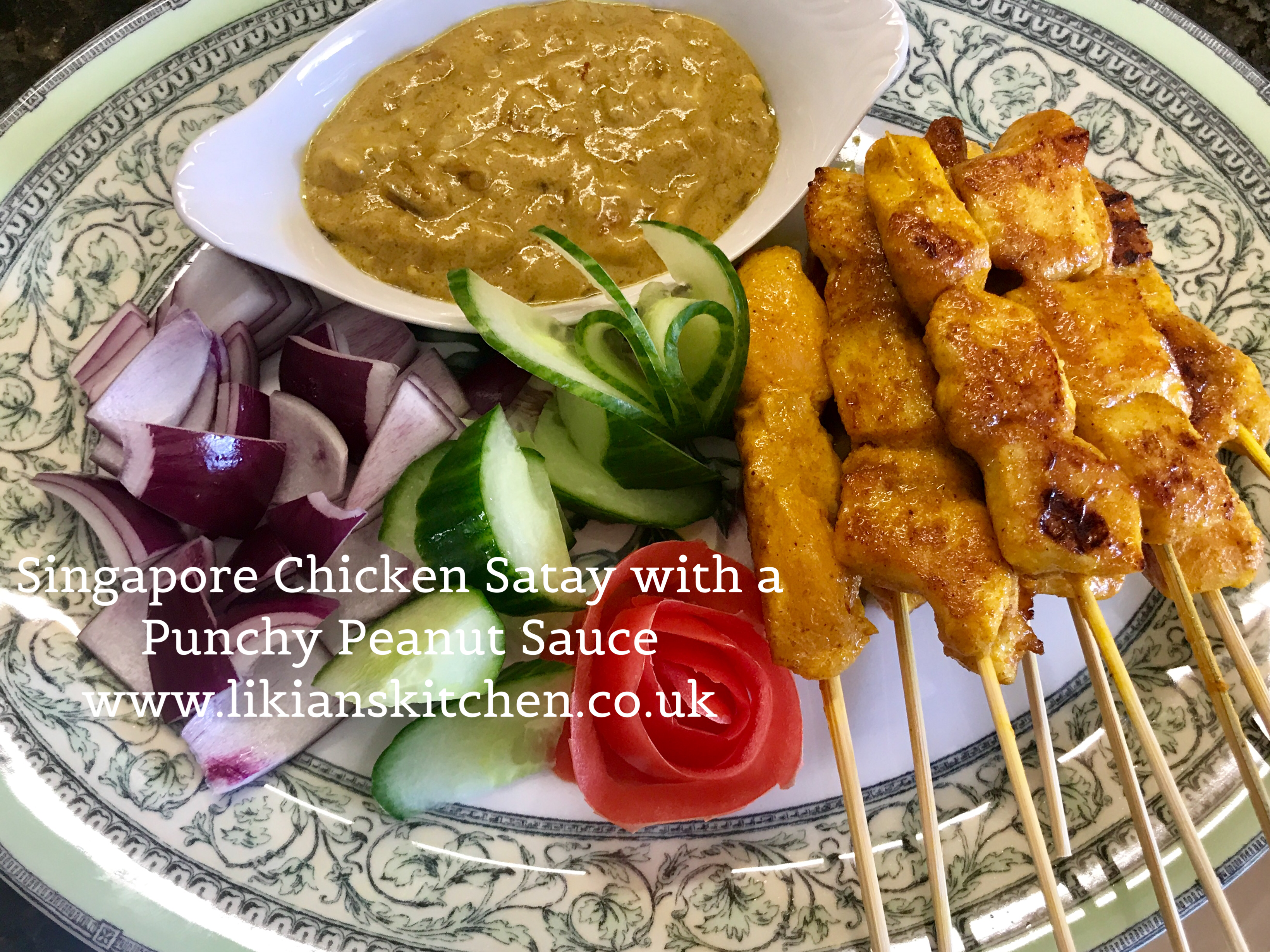 Singapore Satay with onion & cucumber