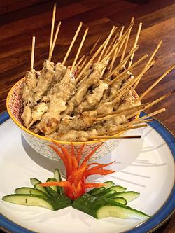 Thai Satay in bowl