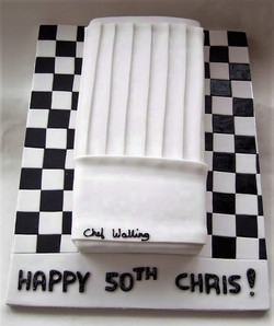 Chef Hat Race Track Cake
