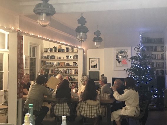 A family gathering- love, laughter and sharing food