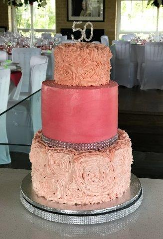 Pistachio Cake with Rose Frosting