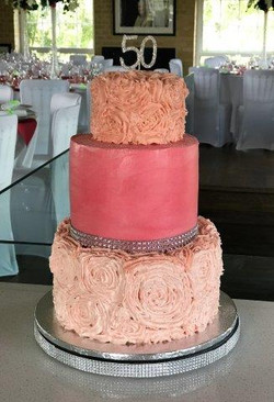 Pistachio Rose Swirls Cake