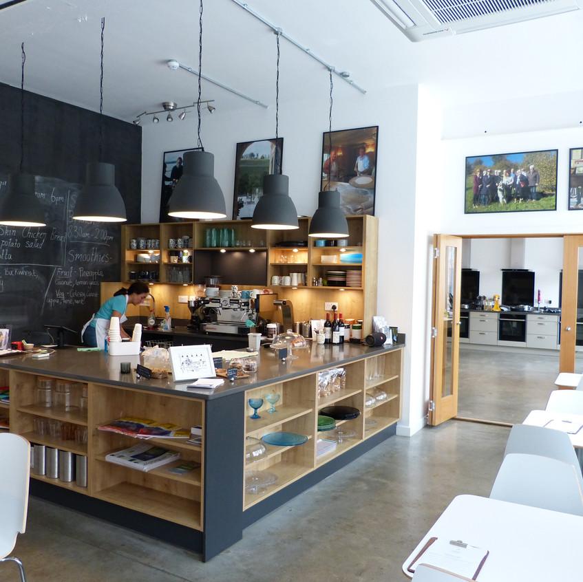 Cambridge Cookery School's cafe