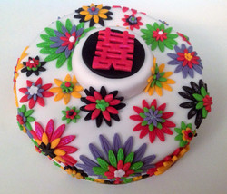Chinese Double Happiness Cake