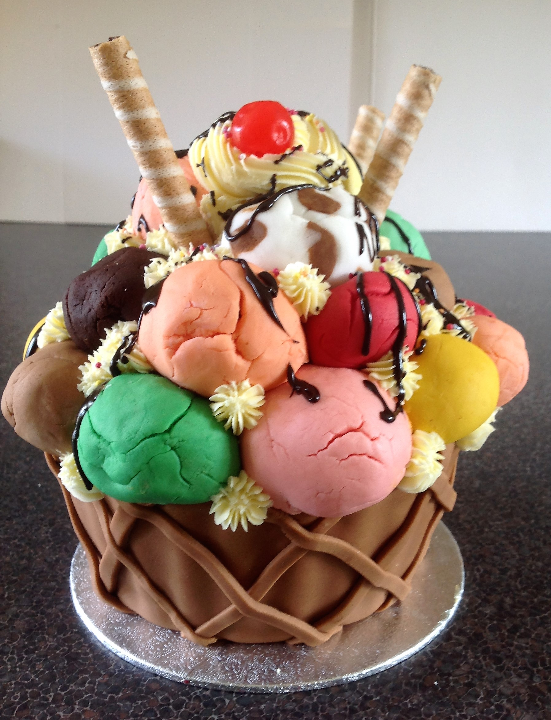 Ice Cream Design Cake