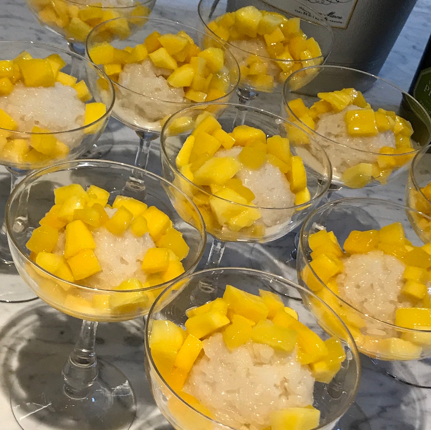 Sticky Rice and Mango Pudding