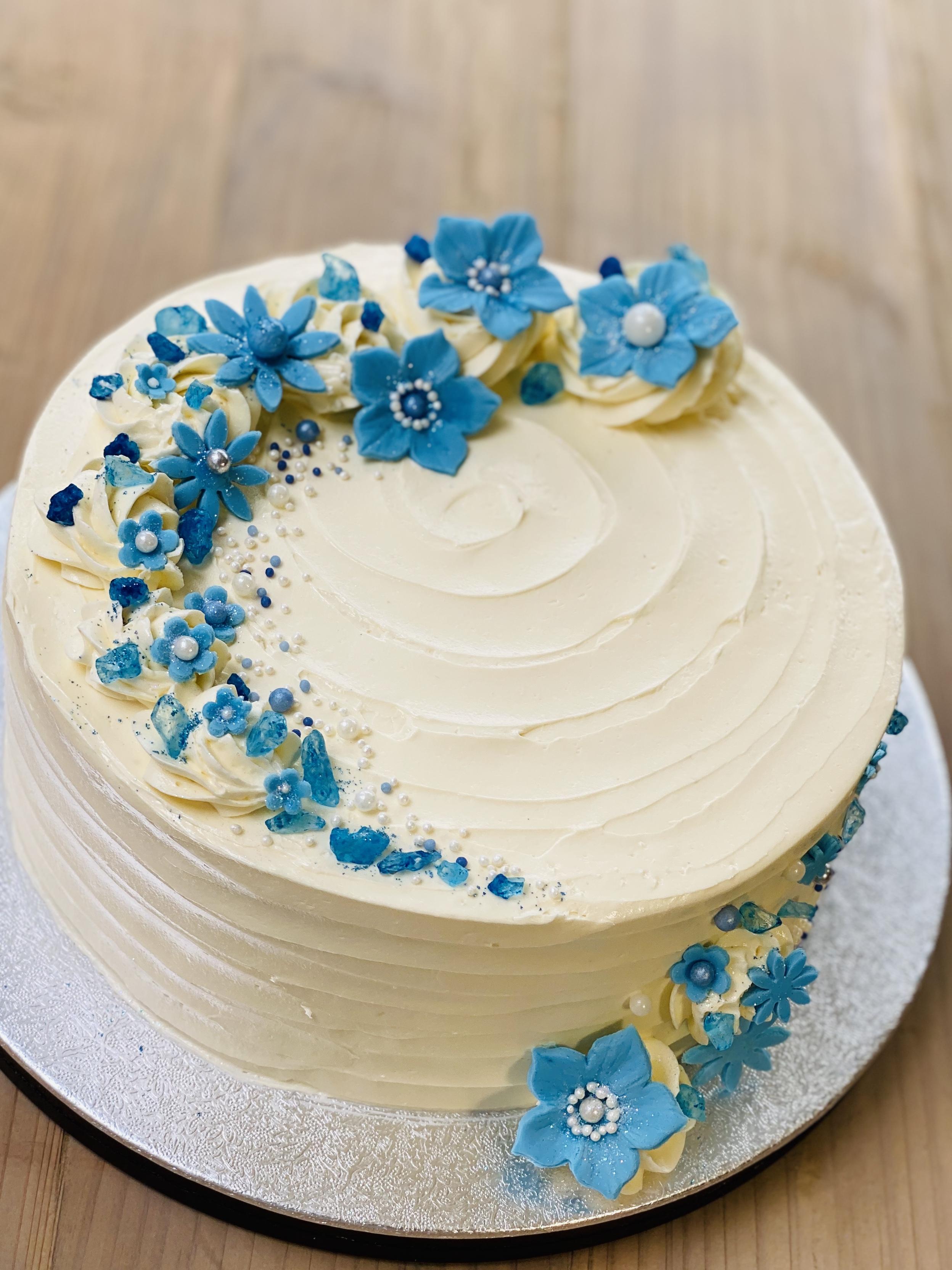 Sapphire wedding anniversary cake