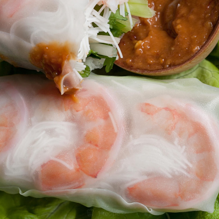 Vietnamese Summer Prawn Rolls with Hoisin Peanut Sauce