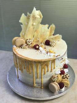 Gold Drip Semi Naked Chocolate Cake