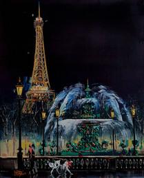 Place de la Concorde la Nuite