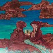 Hippos - Acrylic