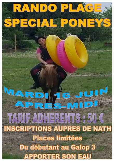 Affiche_rando_plage_spécial_poney_mardi