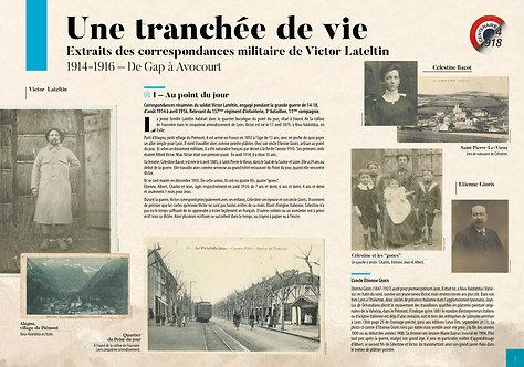 Planches d'exposition PDF - Une tranchée de vie (Famille Lateltin 1914-1916