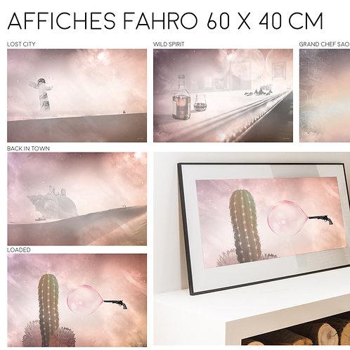 Lot de 5 affiches Fahro Est à imprimer
