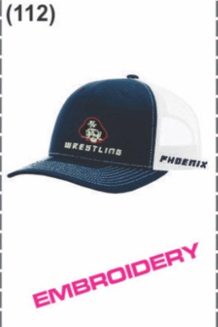 Richardson Adjustable Mesh Cap (Navy/White)