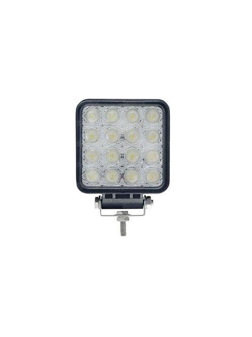 Faro da lavoro a LED Quadrato, 2880 Lumen, Fissaggio: 1 Vite
