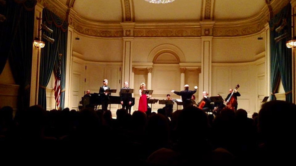 Performing at Carnegie Hal