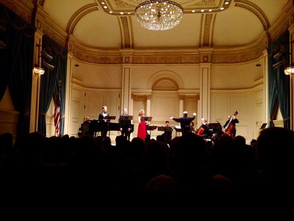 Performing at Carnegie Hal