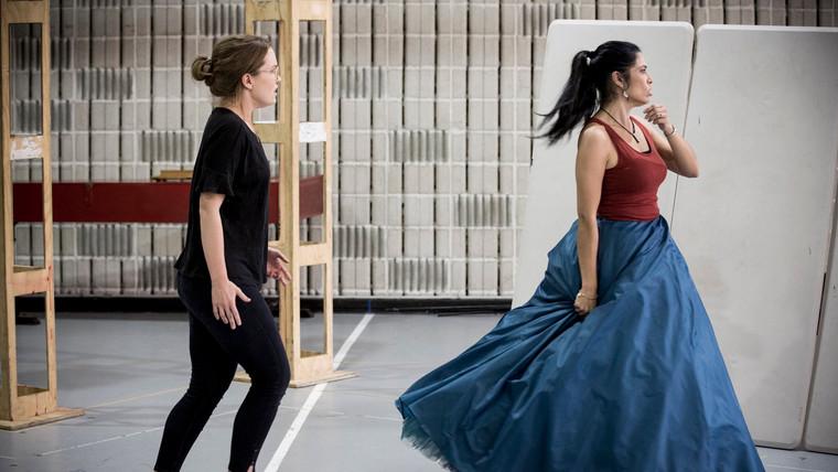 In rehearsal as Semira (Artaserse)