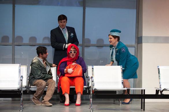 As the Stewardess in Flight