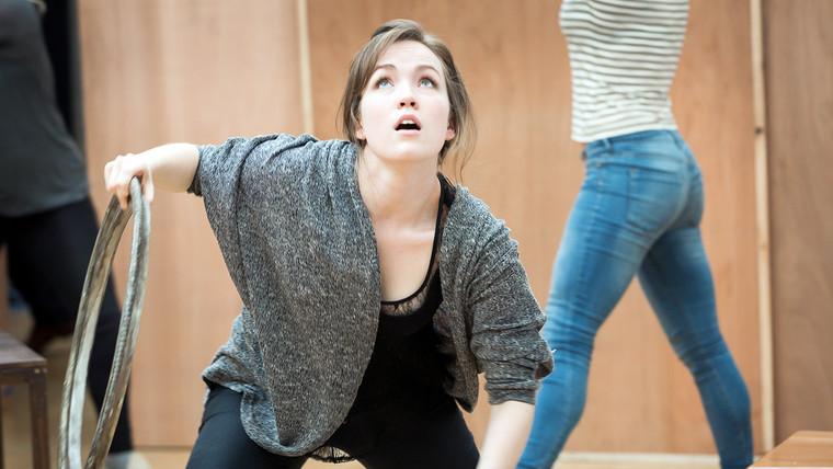 In rehearsal as Aglaea / Atropos / Bacchus (Orpheus)