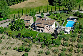 Synergy Yoga RVA in Italy! Our agriturismo! Look at that gorgeous Tuscan countryside!