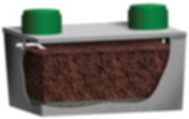 Puraflo Precast Peat Fiber bio filter onsite wastewater treatment solutions septic wastewater treatment