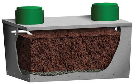 Puraflo Precast Peat Fiber bio filter onsite wastewater treatment solutions septic wastewater treatment