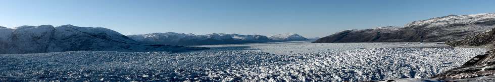 GREENLAND A disappearing glacier