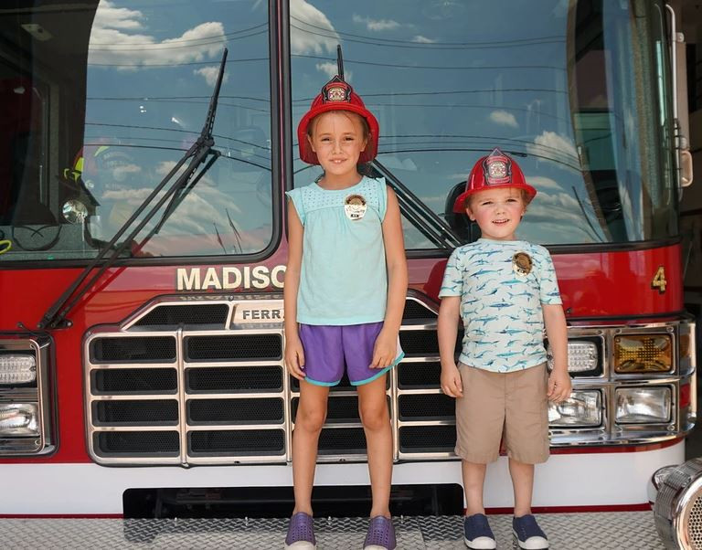 Fire truck with kids.JPG