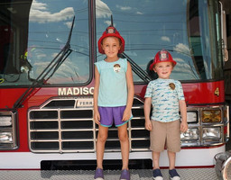 Fire truck with kids.JPG
