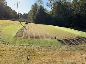 Aeration of greens 10-14-19 image number