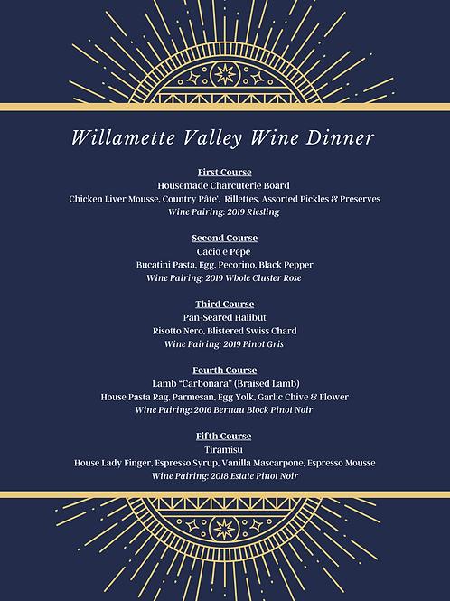 Willamette Wine Dinner